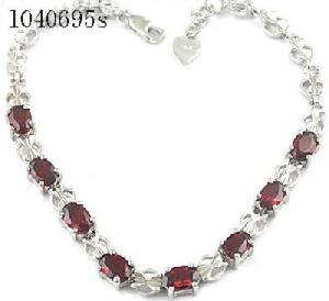 sterling silver garnet bracelet smoky quartz ring earring prehnite pendant