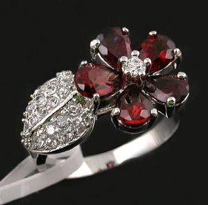 sterling silver garnet ring sapphire earring pendant 18k gold jewelry jewelr