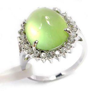 sterling silver prehnite ring olivine pendant gemstone jewelry fashion cz