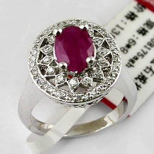 sterling silver ruby ring gemstone jewelry stup earring tourmaline citrine pen