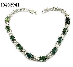sterling silver sapphire bracelet olivine pendant jewelry gemstone