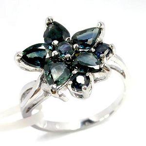 sterling silver sapphire ring amethyst prehnite pendant garnet bracelet earring