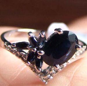 sterling silver sapphire ring amethyst pendant chalcedony moonstone bracelet