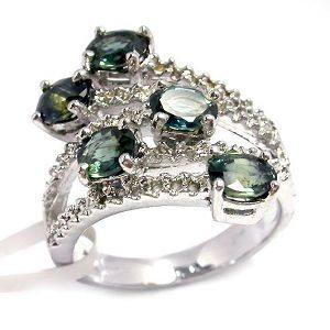 sterling silver sapphire ring moonstone pendant prehnite earrring gemstone jewelry