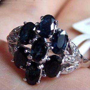 sterling silver sapphire ring pendant olivine prehnite earring jewelry