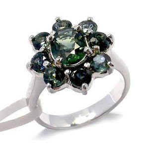 sterling silver sapphire ring smoky quartz earring citrine bracelet ruby penda