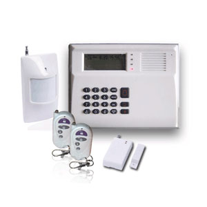 gsm home alarm system works