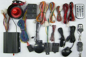 wireless intelligent gsm car alarm system