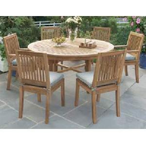 18 teak outdoor round dining chair table teka garden furniture