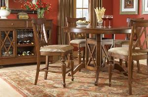 bar round table teak mahogany indoor furniture