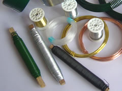 lacquered wire green painted