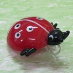beetle glass pendant