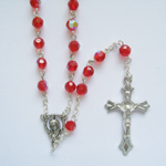 birthstone crystal glass rosary