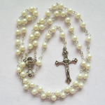 communication rosary glass pearl beads