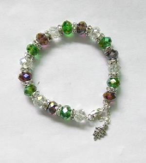 crysstal rondelle bracelet rhinestones