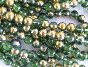 gold plated crystal glass beads