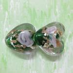 heart lamwwork murano glass beads