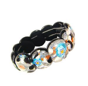 murano millefiori glass bracelet