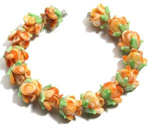 wholesale handmade flower lampwork glass beads