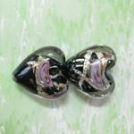 wholesale heart murano lampwork glass beads