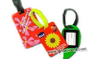 pvc tag hang plastic luggage