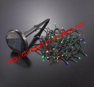 solar led outdoor lighting string vary colors