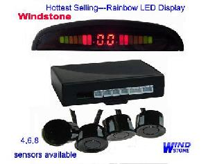 rainbow led parking sensor digital display