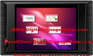 touch screen digital signage player lcd ad 10