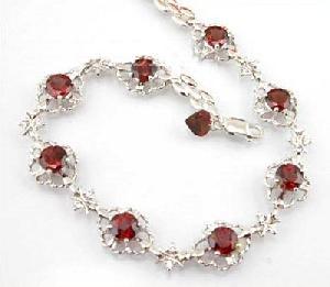 factory sterling silver garnet bracelet sapphire pendant olivine earring 18kgold jewe