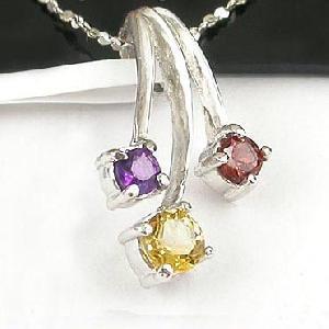 sterling silver mix gem pendant amethyst stone earring olivine bracelet