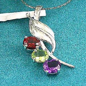 sterling silver mix gem pendant sapphire beacelet olivine ring citrine earring jewel