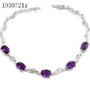 sterling silver amethyst bracelet sapphire earring olivine ring jewe