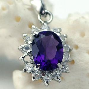 sterling silver amethyst pendant blue topaz moonstone ring sapphire