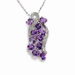 sterling silver amethyst pendant blue topaz ring citrine earring bracelet olivine r