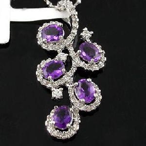 sterling silver amethyst pendant blue topaz ring moonstone earring bracelet