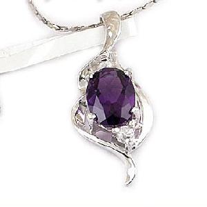 sterling silver amethyst pendant earring fashion jewelry gem stone