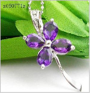sterling silver amethyst pendant garnet ring citrine earring bracelet sapphire