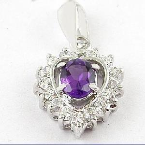 sterling silver amethyst pendant olivine earring blue topaz ring garnet