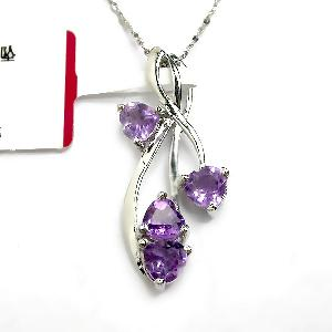 sterling silver amethyst pendant ruby beacelet olivine ring earring jewelry