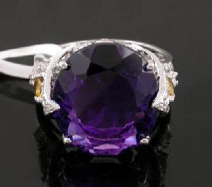 sterling silver amethyst ring olivine earring sapphire necklace ruby beac