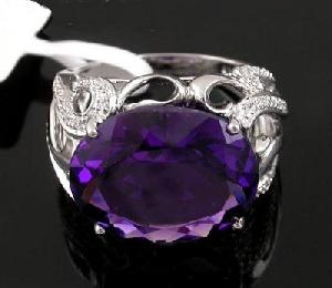 sterling silver amethyst ring olivine sapphire necklace moonstone beacelet