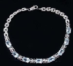 sterling silver blue topaz bracelet stone moonstone pendant olivine ring ear