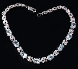 sterling silver blue topaz bracelet sapphire pendant garnet earring ruby citrine r