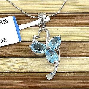 sterling silver blue topaz pendant prehnite earring garnet olivine citrine bracel