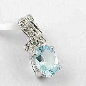 sterling silver blue topaz pendant sapphire rring olivine ring earring jewel