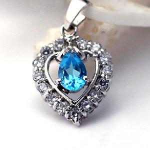 sterling silver blue topaz pendant jewelry olivine ring earring