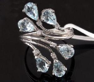 sterling silver blue topaz ring amethyst pendant tourmaline earring olivine bracelet