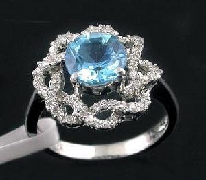 sterling silver blue topaz ring olivine bracelet chalcedony tourmaline pendant