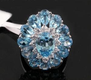 sterling silver blue topaz ring sapphire moonstone pendant tourmaline bracelet rin