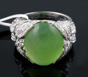 sterling silver chalcedony ring jewelry olivine bracelet ruby earring
